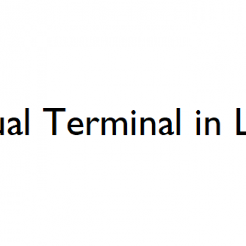 What Is A Virtual Terminal In Linux/Unix?